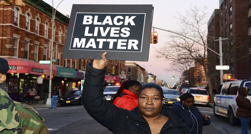 A Black Lives Matter demonstrator (Shuttershock)