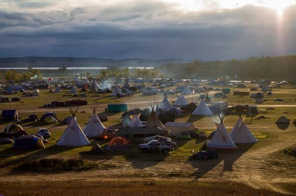 Courtesy bucky harjo sunset at the new water protectors camp in the