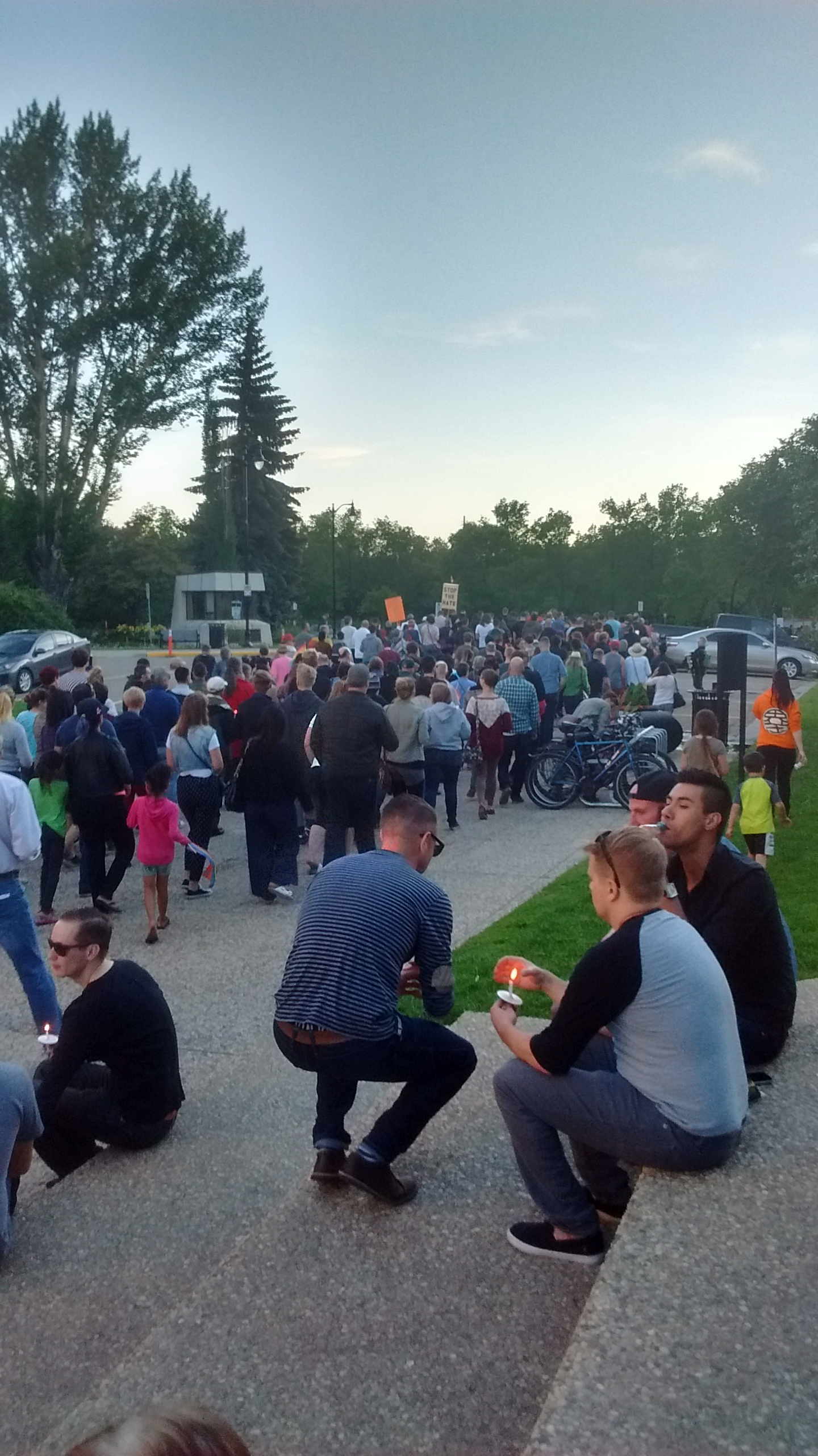 The Edmonton vigil for Orlando