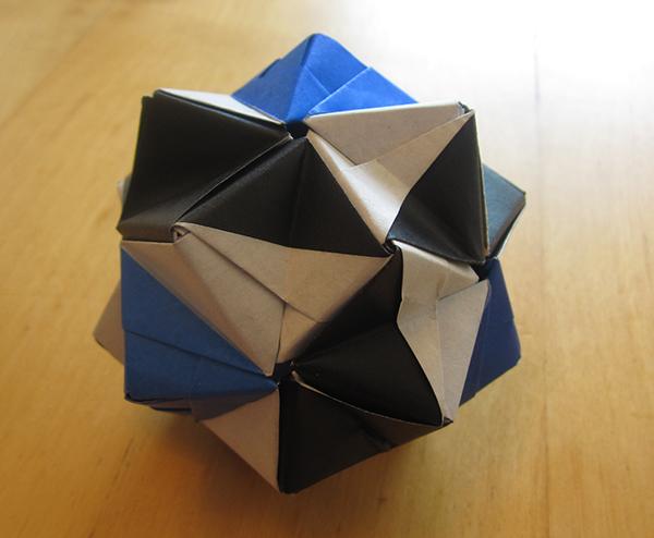 origami ray icosahedron