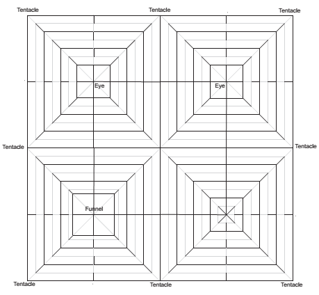 Crease Pattern For An Octopus