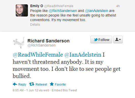 "Rich Sanderson complains that it's ""[his] movement too"""