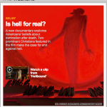 "Screen shot from CNN home page: ""Is hell for real?"""