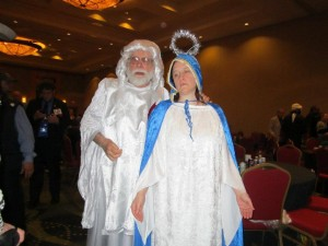 Edwin as God and Pamela as BVM March 2012