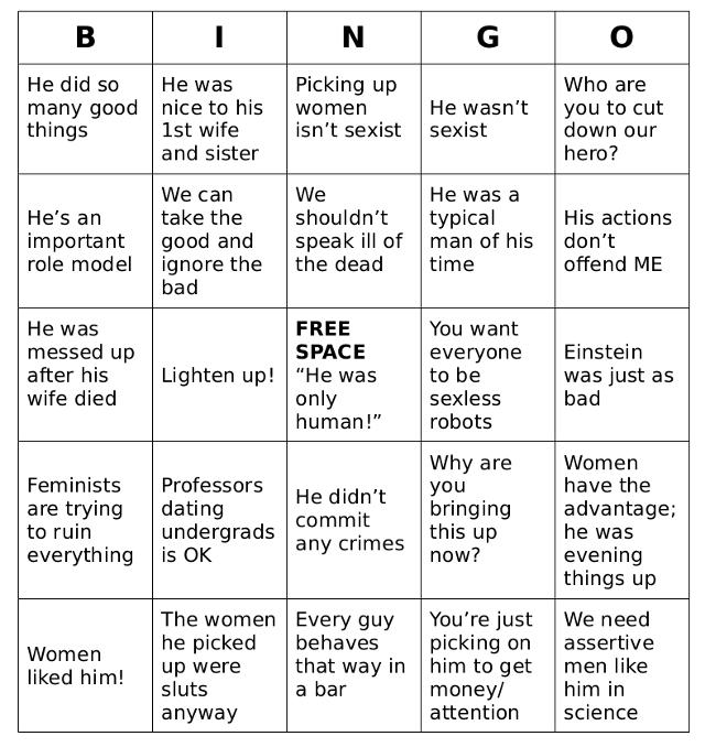 Feynman Bingo