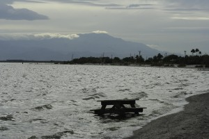 The Salton Sea with Mount San Jacinto in the background -- CC photo