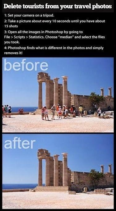 How to remove unwanted intrusions from scenic photos