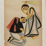 394px-Kalighat_Painting_Calcutta_19th_Century_-_Woman_Strinking_Man_With_Broom