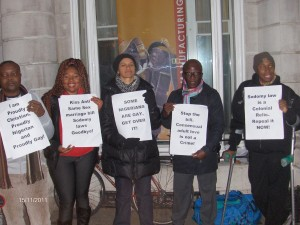 Nigerian LGBTI In Diaspora Against Anti-Same Laws. Protest Londo 006 - Copy