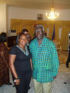 with Ghana president, Kuffour