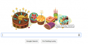 Google doodle birthday greetings just for me!