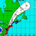 Hurricane Irene track from the National Hurricane Center&#039;s 5 PM EDT update. Click image for latest