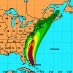 Hurricane Irene 2 PM EDT 25 Aug 2011 via the National Hurricane Center. Click image for latest storm forecast