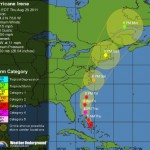 Hurricane Irene as of 2 AM EDT via the WeatherUnderground
