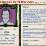 Click on image for full D & D character sheets on current presidential candidates