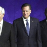 The leading GOP candidates: Newt Gingrich, Mitt Romney, and Herman Cain. Photo credit AP