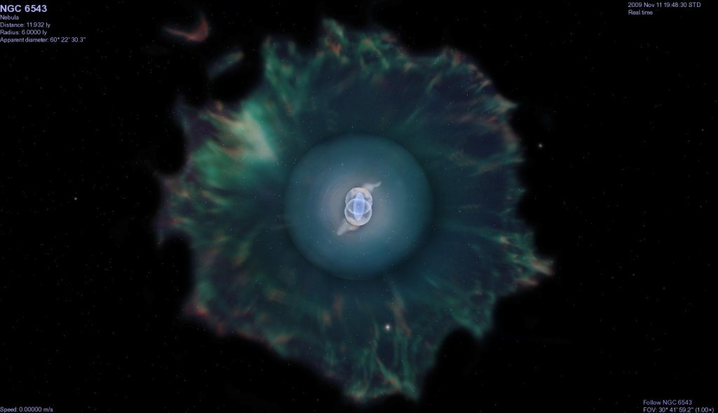 Complex structure of the factors at work in the center of the Cat's Eye Nebula