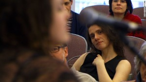 Members of an atheist congregation at Harvard listen to music during a recent gathering. Image courtesy CNN