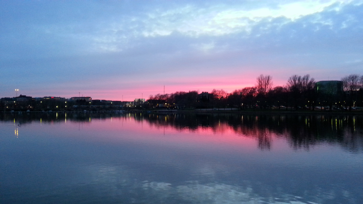 Sunset from Siltasaari Hels. © Ice Swimmer