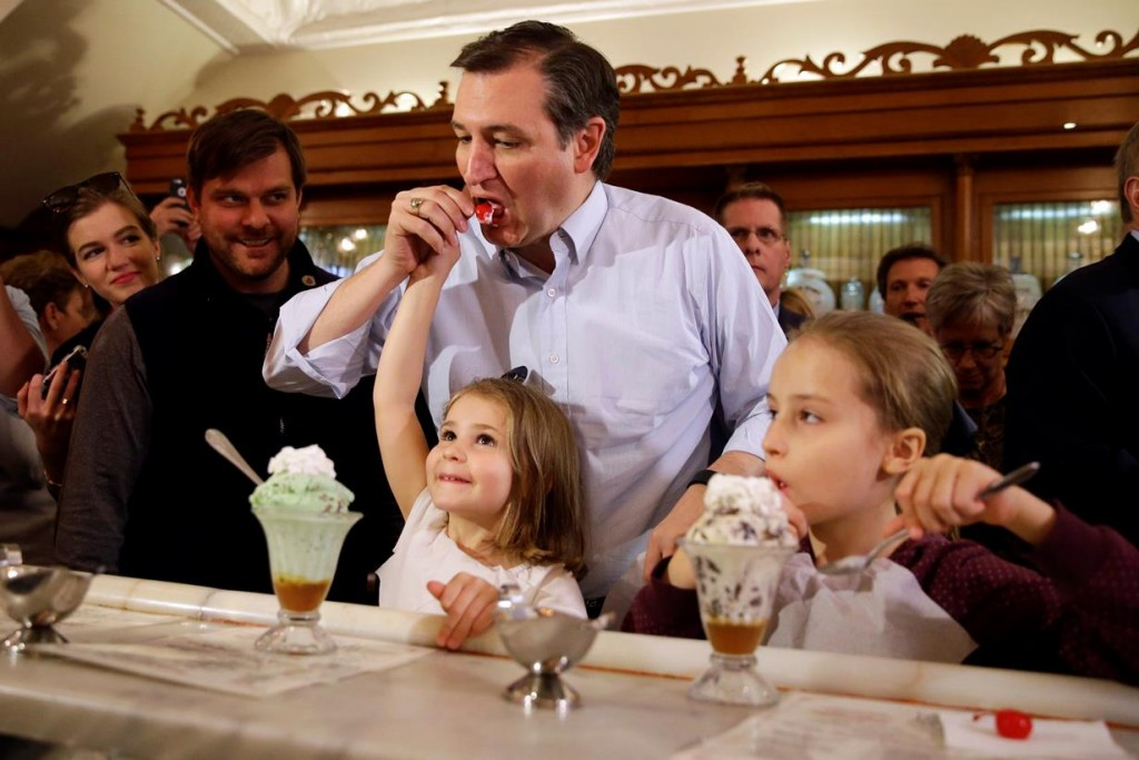 If Ted Cruz had to use the bathroom after stealing his daughter's cherry, he could use the one right there in the ice cream parlor, but a transgender person enjoying a sundae, he thinks, should have to go all the way home.