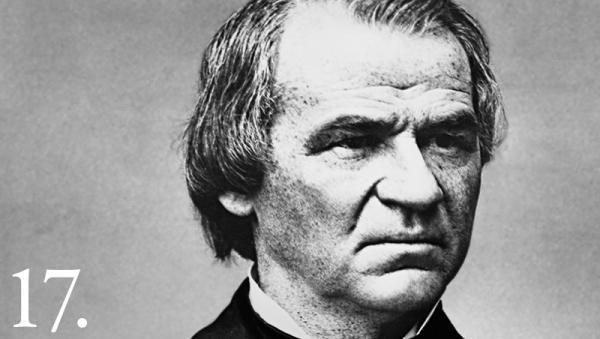 "Whitehouse.gov Andrew Johnson took office April 15, 1865. He established Thanksgiving as a holiday, and spoke of the need to relocate Indians to ""reservations remote from the traveled routes between the Mississippi and the Pacific."""