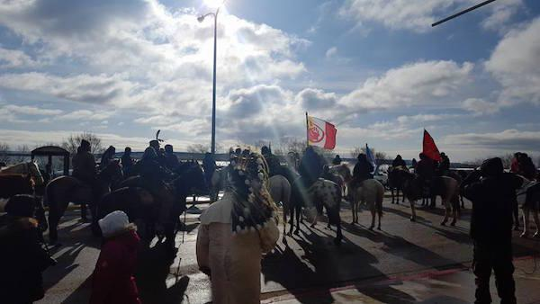The spirit riders at Standing Rock show support for keeping the Missouri River waters clean.