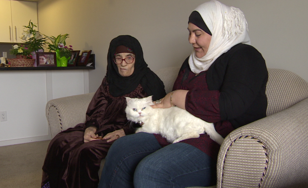 Naeila El Shatir considers her cat Sherry to be part of the family. (CBC)
