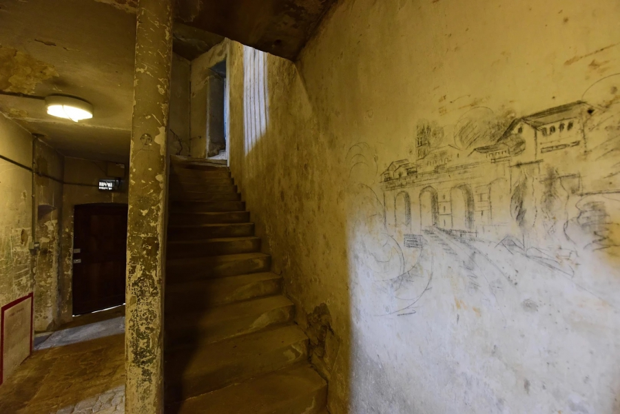 The cells of Richmond Castle, which have over 5,000 drawings on them, will now be preserved by English Heritage.  Credit: English Heritage