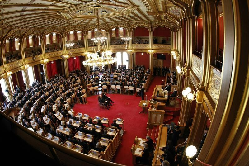 A general view inside the Norwegian parliament in Oslo August 1, 2011. © 2011 Reuters
