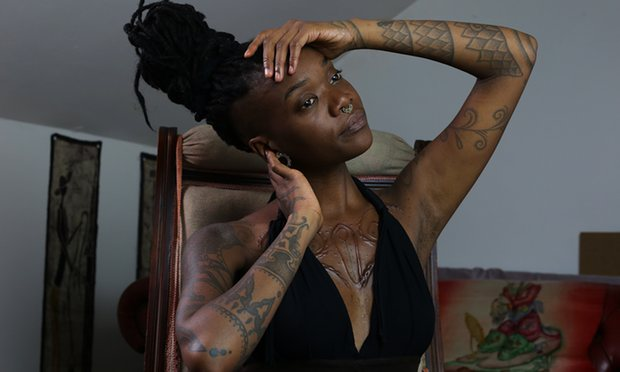 Laurence Sessou, in Women with Tattoos. All photographs: Eleni Stefanou
