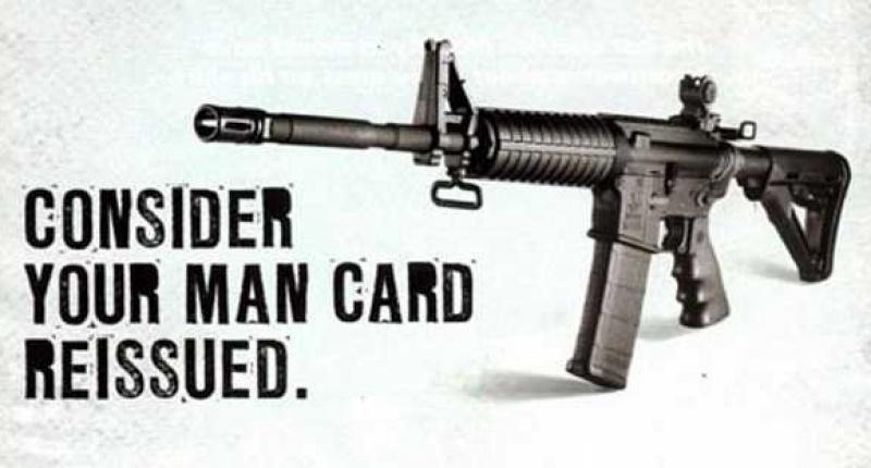 This Bushmaster ad ran in Maxim magazine, according to Mother Jones (Bushmaster)