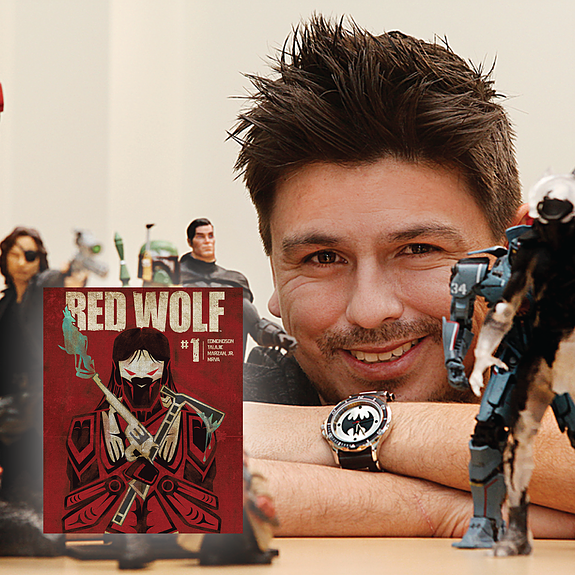 Red Wolf creator, Award-Winning Native American Comic Artist & Designer from the Port Gamble S'Klallam Tribe, Jeffrey Veregge will be one of many special guests at this year's Indigenous Comic Con.