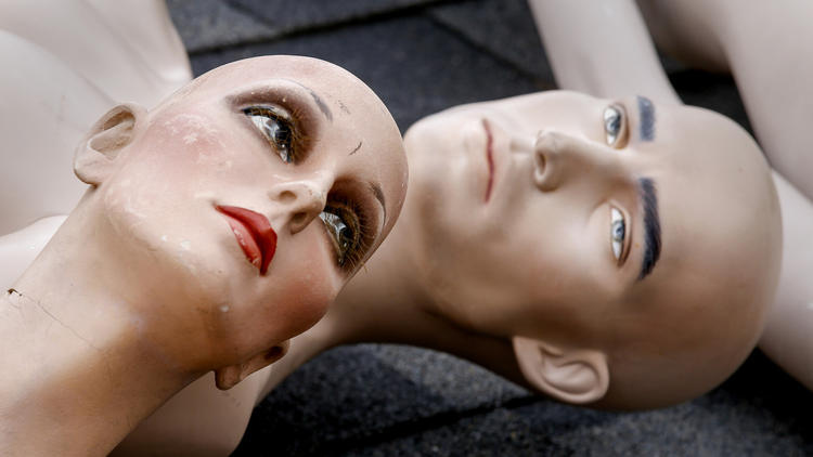 "Mannequins from ChadMichael Morrisette's art installation ""No One Is Safe."" (Mark Boster/ Los Angeles Times)"