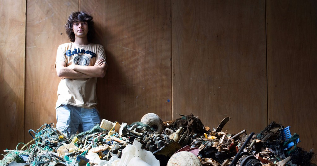 Boyan Slat wants to start the largest ocean clean up ever with the help of nets and ocean currents. He began testing his prototype this month.
