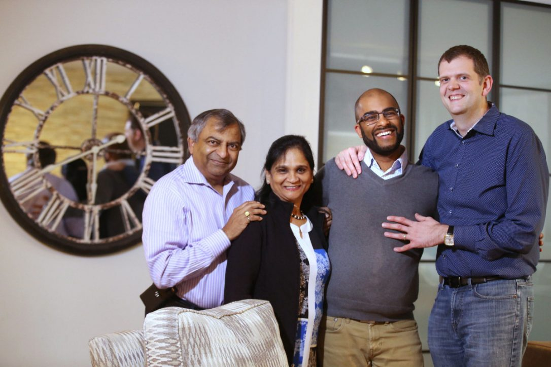 Rishi Agarwal and Daniel Langdon, right, pictured here with Agarwal's parents, Vijay and Sushma. Agarwal's parents have come a long way since Rishi came out in 2004 and hope sharing their story can help other South Asian parents who may be struggling with supporting their LGBTQ children.  (Vince Talotta / Toronto Star)