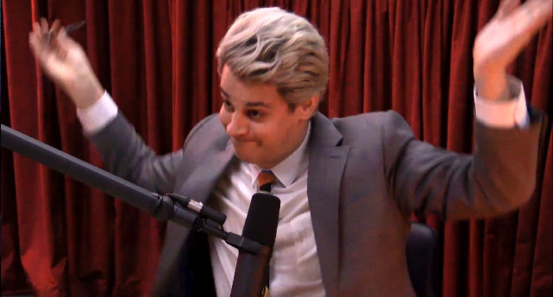 Conservative provocateur Milo Yiannopoulos (Screenshot)