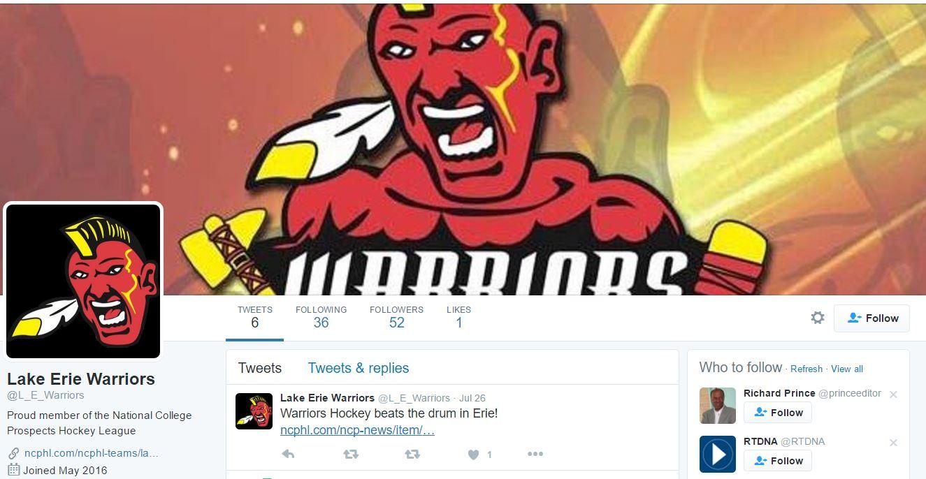 Lake Erie warriors - twitter