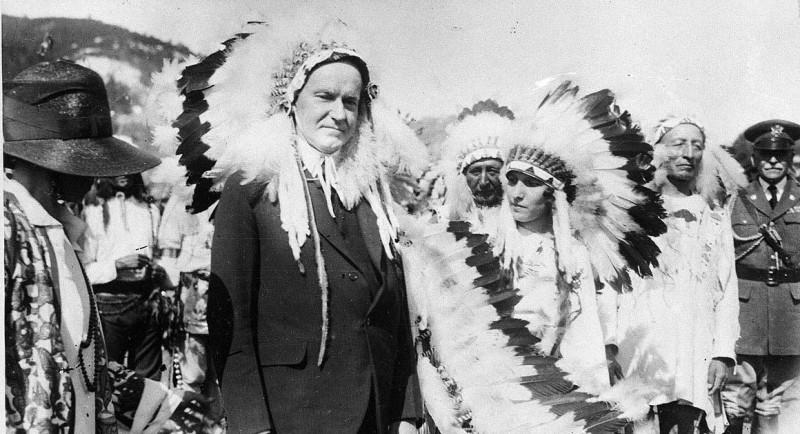 During the summer of 1927, Coolidge became the first sitting president to be adopted by an Indian tribe. He also began the desecration at Mount Rushmore. (Politico)