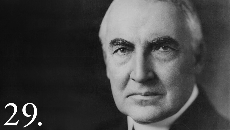 29th President Warren Harding promised Indians he would look out for their indigenous rights, but did little to that end. Whitehouse.gov