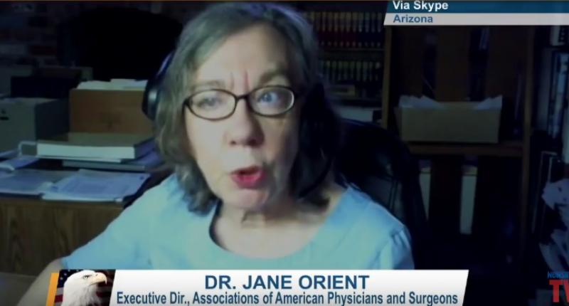Dr. Jane Orient (Screen cap via NewsMax TV).