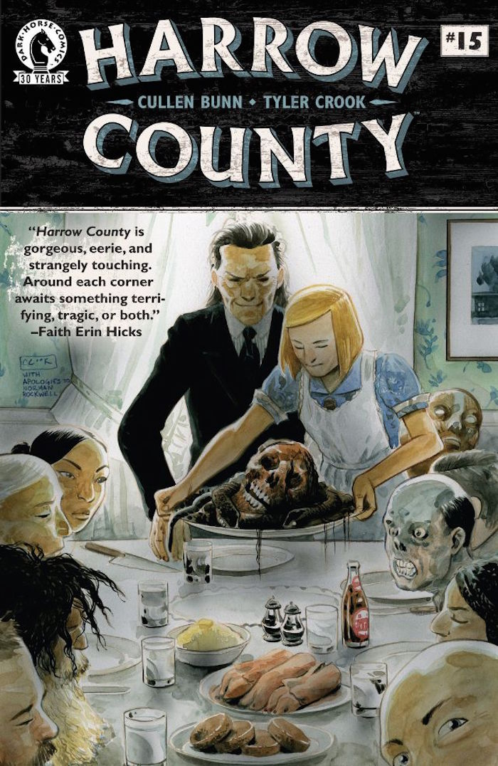 Cover for Harrow County #15. Cover illustrated by Tyler Cook. Photo courtesy of Dark Horse Comics.