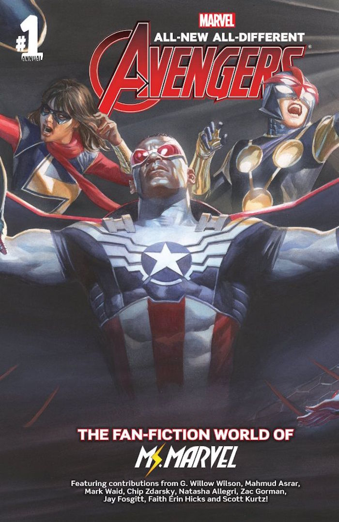Cover for All-New, All-Different Avengers Annual #1. Illustrated by Alex Ross. Photo courtesy of Marvel Comics.