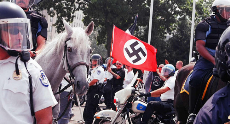 A 2002 rally by neo-Nazi group the National Alliance (Flickr Creative Commons).