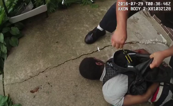 Screen shot of video footage of Chicago police shooting of 18-year-old Paul O'Neal   Video provided by IPRA.