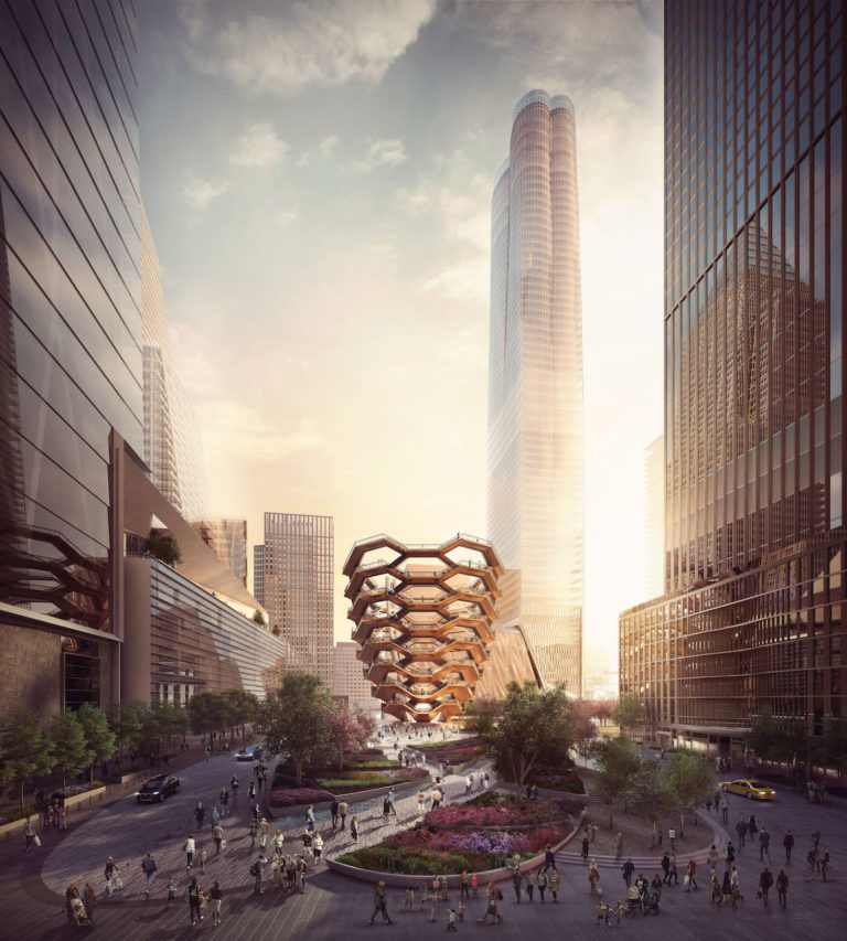 """Thomas Heatherwick Studio, rendering for """"Vessel"""" (2016) (all images by and courtesy Forbes Massie)."""
