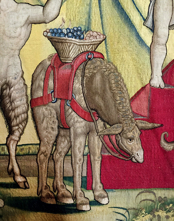 Detail from the Triumph of Bacchus Tapestry.
