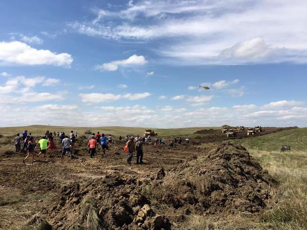 Courtesy Red Warrior Camp Water protectors reported a violent encounter between Dakota Access LLC security guards, who allegedly used attack dogs and pepper spray against them.