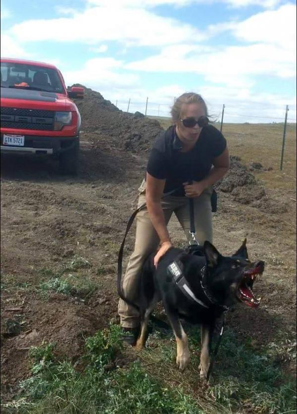 """Opponents of the Dakota Access Pipeline, or """"water protectors,"""" were attacked with dogs, pepper spray on Saturday near the site of the pipeline route."""