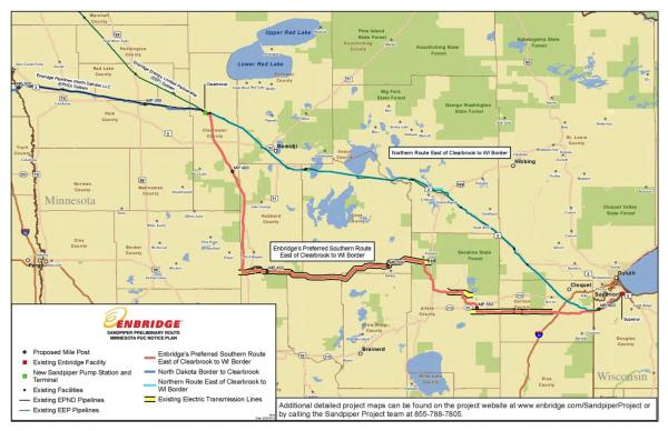 Courtesy Winona LaDuke/Honor the Earth. The Sandpiper pipeline would have run through sensitive waterways, jeopardizing Ojibwe manoomin, or wild rice.