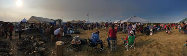 Water protectors at Standing Rock. (Photo: Courtesy Steven Sitting Bear/Standing Rock Sioux Tribe).